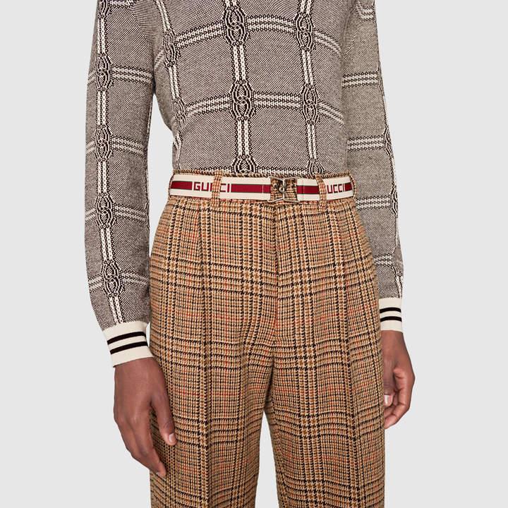 Gucci stripe elastic belt