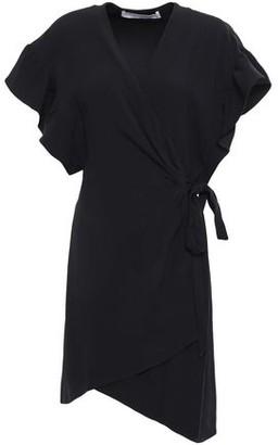 IRO Anette Asymmetric Crepe Mini Wrap Dress