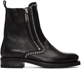 DSQUARED2 Black Studded Ankle Boots