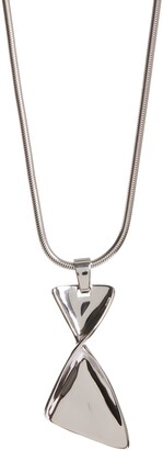 St. John Twist Metal Long Pendant Necklace