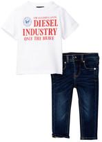 Diesel Tee & Jean Set (Baby Boys)