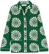 Valentino Printed Silk Shirt - Army green