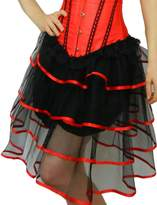 Yummy Bee Womens Long Frilly Tutu Skirt Burlesque Costume Size 6 - 8