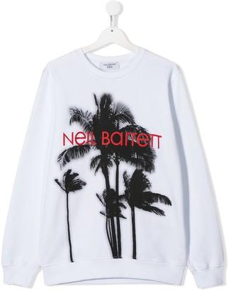 Neil Barrett Kids palm tree logo sweatshirt