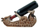 Drinking Giraffe Wine Bottle Holder Statue in African Jungle Safari Sculptures and Figurines Decor & Wildlife Animal Wine Racks and Stands Gifts