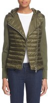Moncler Women's 'Maglia' Quilted Down Asymmetrical Zip Hoodie