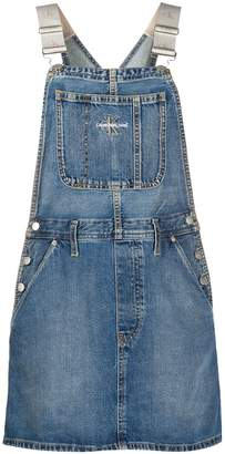 Calvin Klein Jeans Denim Pinafore Mini Dress