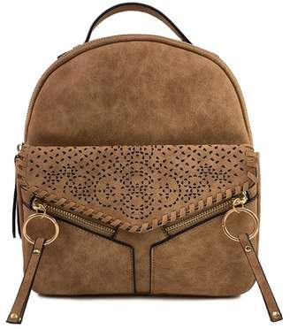 Violet Ray Freya Whipstitch Laser-Cut Backpack