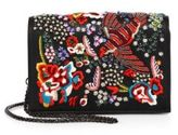Alice + Olivia Embellished Leather Bird Party Crossbody Bag