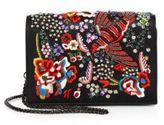 Alice + Olivia Embellished Leather Bird Party Crossbody Bag