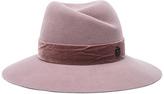 Maison Michel Virginie Hat with Velvet in Purple.