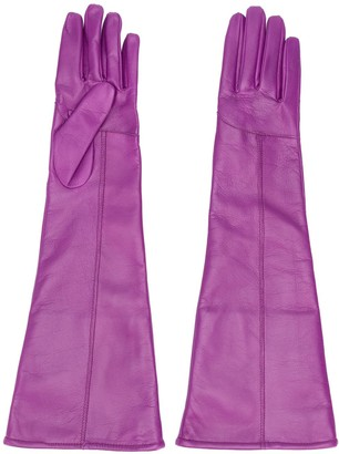 MSGM Long Stitched Panel Gloves