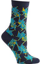 Ozone Women's Origami Flower Crew Socks (2 Pairs)