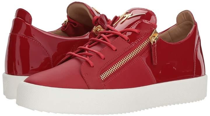 Giuseppe Zanotti May London Nappa/Patent Low Top Sneaker Men's Shoes