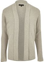 River Island Mens Stone open cardigan