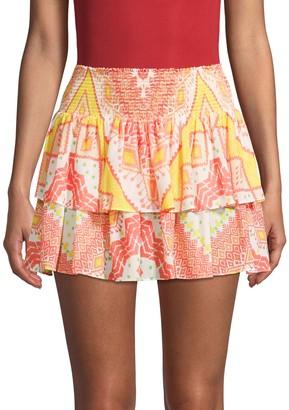 Ramy Brook Smocked Waist Skirt