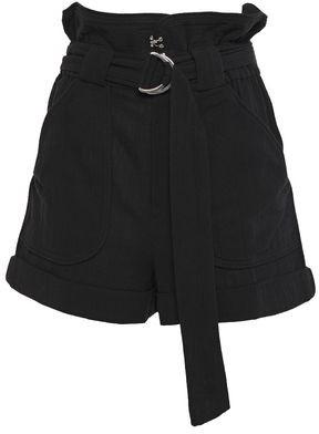 IRO Belted Cotton-gauze Shorts