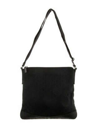 Gucci Medium GG Canvas Messenger Bag Black