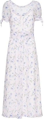 Miu Miu Poppy Print Dress