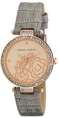 Laura Ashley Womens Strap Watch-La31067rg Family