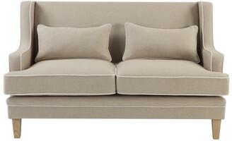 One World Shoreham 2 Seat Sofa Natural And White