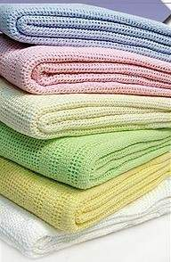 Dudu N Girlie 100 Percent Cotton Baby Cot Cellular Blanket, White