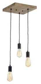 """Home Accessories Jash 12"""" 3-Light Indoor Pendant Lamp with Light Kit"""