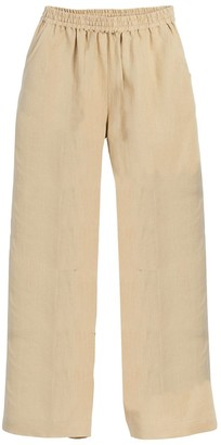 BEIGE Beachcombers Coastal Life Women's Casual Pants  Wide-Leg Linen Pants - Women