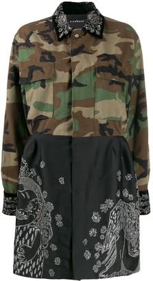 John Richmond Miandoum combined shirt dress