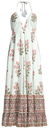 Roller Rabbit Flower Palace Venezia Halter Maxi Dress