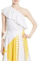 Milly Women's One-Shoulder Silk Blend Top