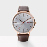 Paul Smith Men's White And Brown 'Track' Watch