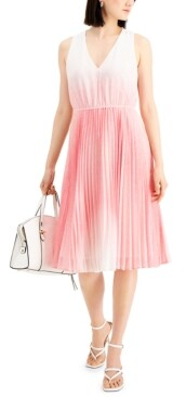 Thumbnail for your product : Taylor Petite Ombre-Dot Dress