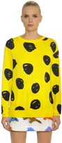 Jeremy Scott Polka Dot Cotton Knit Sweater