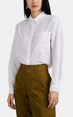 Alex Mill Women's Polka Dot Cotton Voile Shirt - White