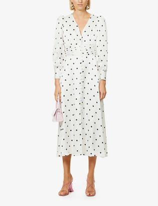 Olivia Rubin Valentina polka-dot silk midi dress
