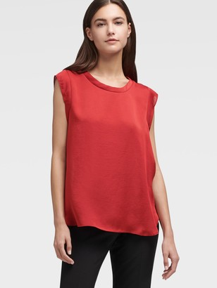 DKNY Women's Cap Sleeve Foundation Top - Red - Size XX-Small