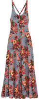 Emilia Wickstead Viola Floral-print Stretch-crepe Maxi Dress