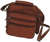Roma Leathers Roma Choco Leather Organizer Bag Handbag Purse