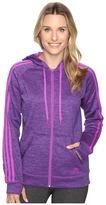 adidas Team Issue Fleece 3 Stripes Full Zip Hoodie