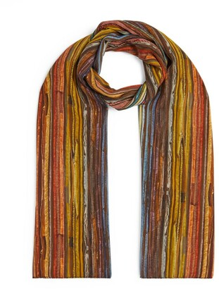 eskandar Multicoloured Silk Scarf