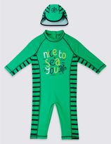 Marks and Spencer 2 Piece Slogan Swim Outfit (0-5 Years)