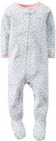 "Carter's Baby Girls' ""Bird Floral"" Footed Coverall"