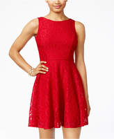 Speechless Juniors' Glittered Lace Dress, Only at Macy's