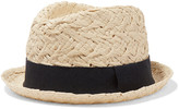 Iris and Ink Grosgrain-trimmed straw panama hat