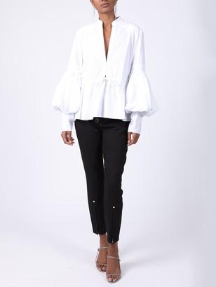 Rosie Assoulin Lantern Sleeve Top White