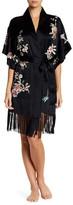 Josie Embroidered Fringe Silk Robe