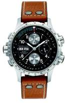 Hamilton Khaki Aviation X-Wind Auto Chrono Stainless Steel & Leather Strap Watch