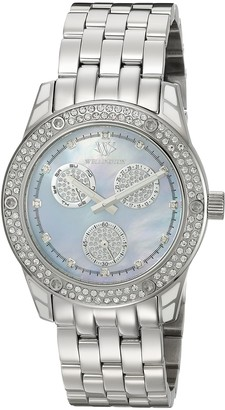 Wellington Mataura Women's Quartz Watch with Mother of Pearl Dial Analogue Display and Silver Stainless Steel Bracelet WN507-131
