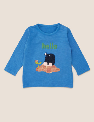 Marks and Spencer Pure Cotton Hello Mole Top
